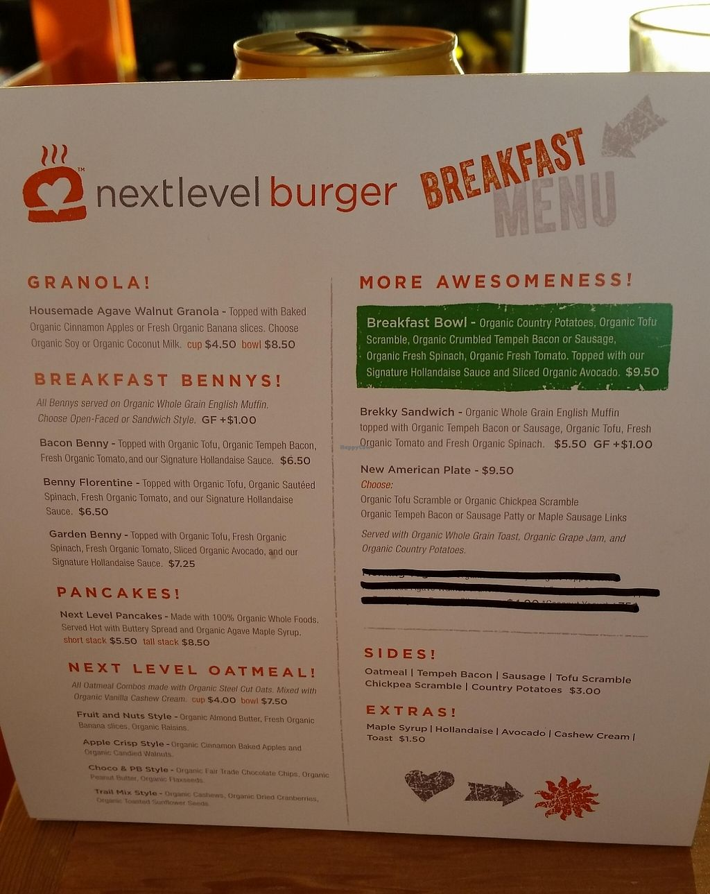 "Photo of Next Level Burger  by <a href=""/members/profile/katypine"">katypine</a> <br/>breakfast menu, too! <br/> October 24, 2015  - <a href='/contact/abuse/image/64640/221656'>Report</a>"