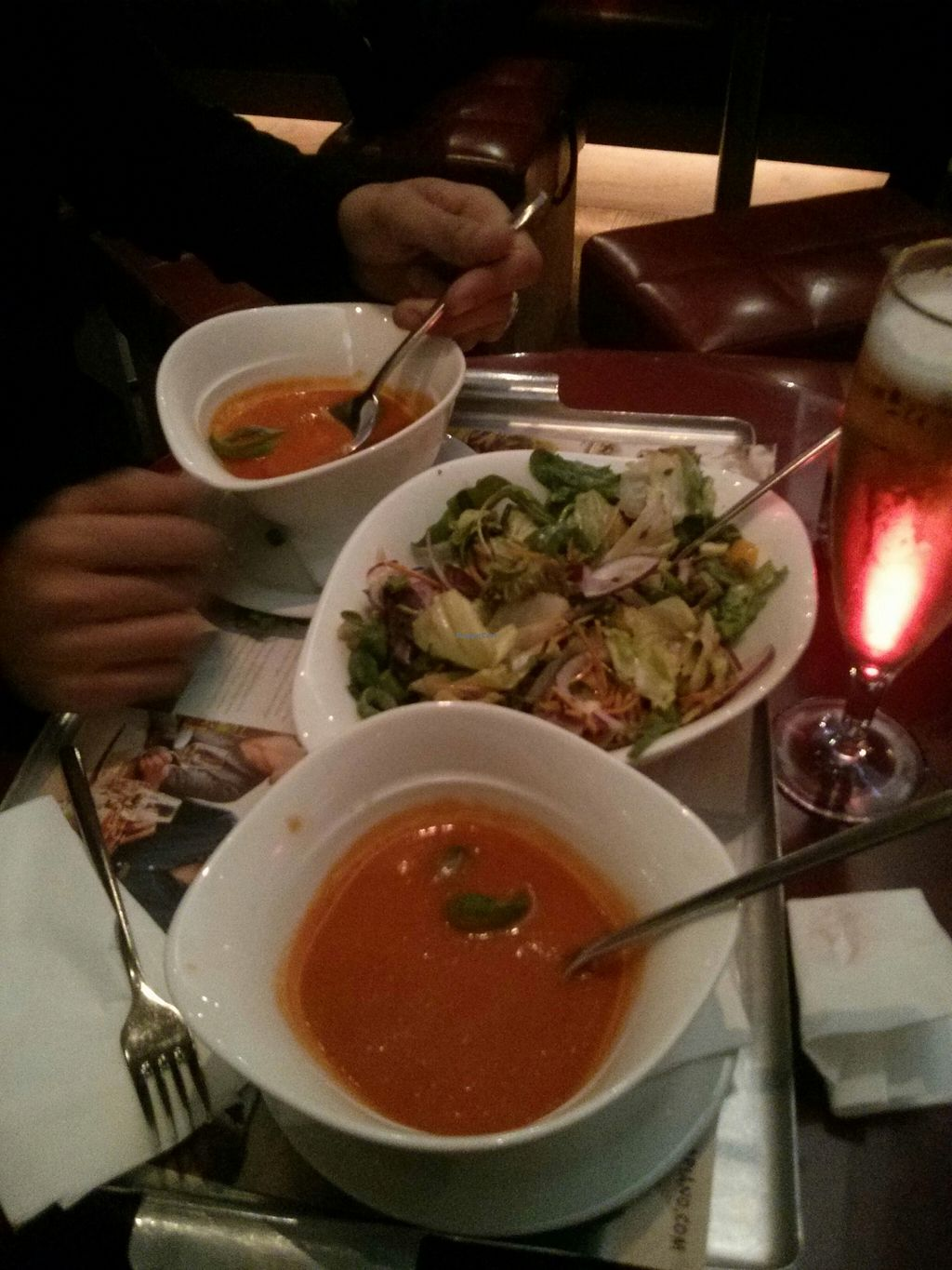 """Photo of Vapiano  by <a href=""""/members/profile/hadasalex"""">hadasalex</a> <br/>salat and fantastic tomato soup <br/> October 18, 2015  - <a href='/contact/abuse/image/64650/121752'>Report</a>"""