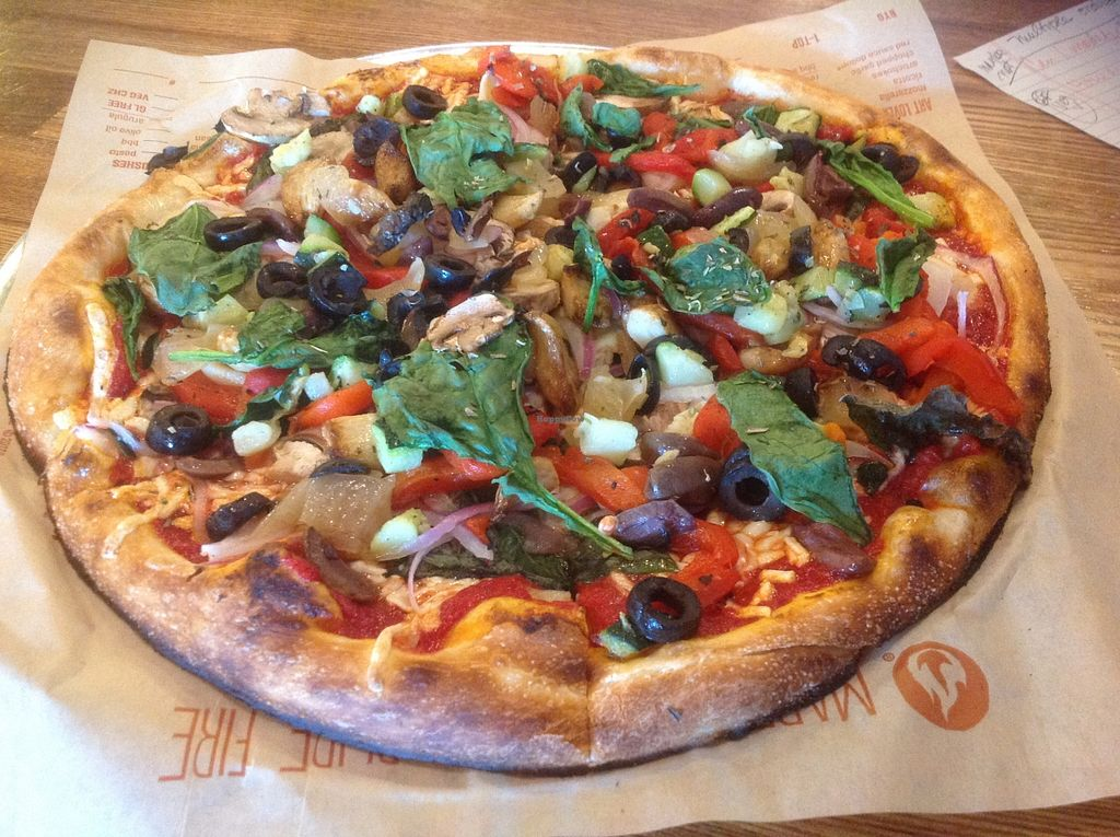 "Photo of Blaze Pizza  by <a href=""/members/profile/moriamerri"">moriamerri</a> <br/>Blaze pizza, with vegan cheese, and lots of toppings <br/> November 1, 2015  - <a href='/contact/abuse/image/64701/123469'>Report</a>"