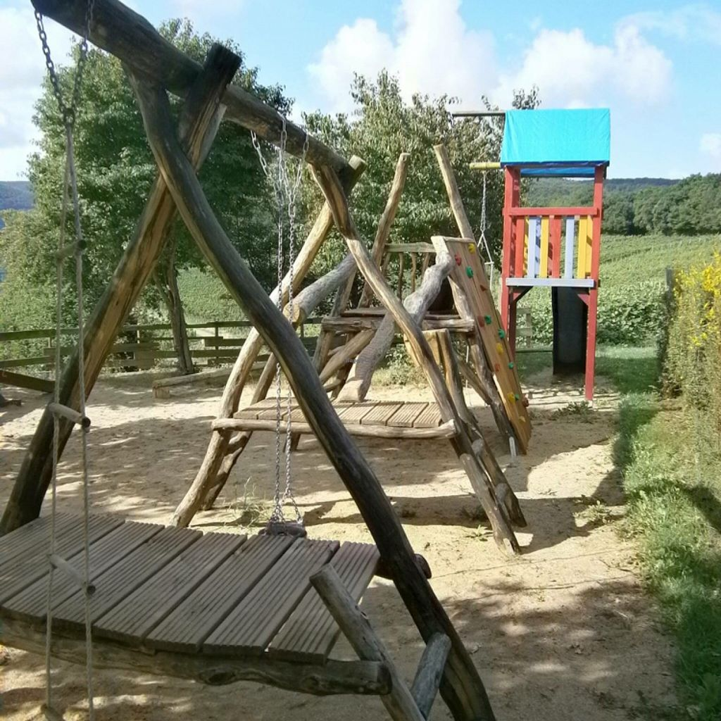 """Photo of Försters Weinterrassen  by <a href=""""/members/profile/foersters"""">foersters</a> <br/>Own playground for Kids <br/> November 5, 2015  - <a href='/contact/abuse/image/64712/123994'>Report</a>"""