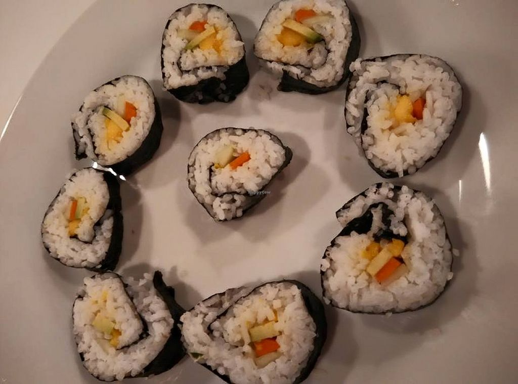 """Photo of Lets Fat Cafe  by <a href=""""/members/profile/community"""">community</a> <br/>vegetarian sushi  <br/> October 29, 2015  - <a href='/contact/abuse/image/64719/123058'>Report</a>"""