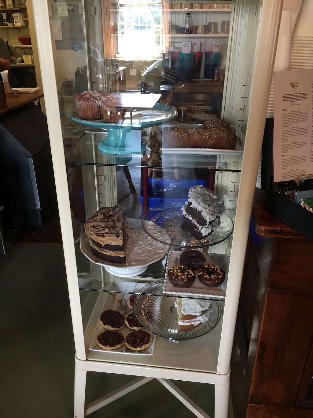 """Photo of The Moth Coffeehouse  by <a href=""""/members/profile/CharlaCharestHicks"""">CharlaCharestHicks</a> <br/>All desserts on a white or clear plate were vegan! Tarts, crumbles, cakes, and donuts! <br/> July 18, 2017  - <a href='/contact/abuse/image/64726/281841'>Report</a>"""