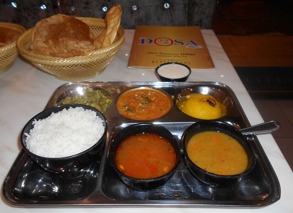 """Photo of The Dosa Hut  by <a href=""""/members/profile/Kelly%20Kelly"""">Kelly Kelly</a> <br/>The Dosa Hut - Thali <br/> April 22, 2016  - <a href='/contact/abuse/image/64732/145742'>Report</a>"""