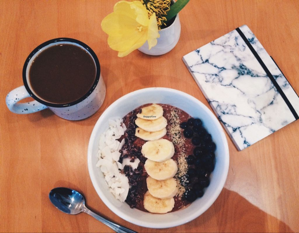 """Photo of Laney & Lu  by <a href=""""/members/profile/VeganTini"""">VeganTini</a> <br/>Almond Cacao Acai Bowl <br/> January 16, 2016  - <a href='/contact/abuse/image/64738/132588'>Report</a>"""