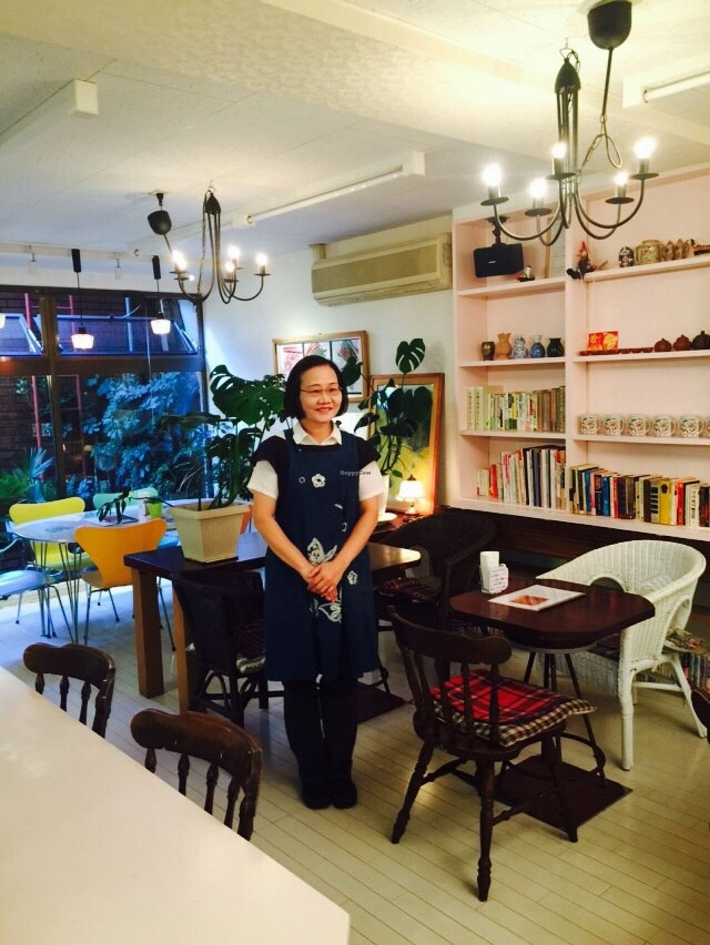 """Photo of CLOSED: Seven Bells Cafe  by <a href=""""/members/profile/Greg%20Meilien%20Winder"""">Greg Meilien Winder</a> <br/>This is Meilien (Belien) the owner of this great new Vegetarian and all Vegan restaurant, in Tachikawa Tokyo, Japan. The food and service is excellent, English, Japanese, Taiwanese and Chinese spoken.  <br/> October 30, 2015  - <a href='/contact/abuse/image/64758/123274'>Report</a>"""