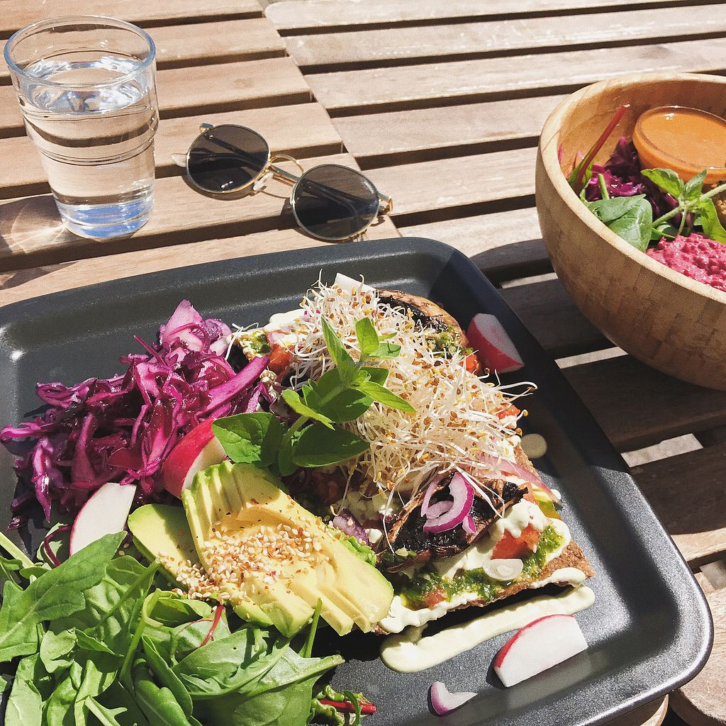 """Photo of CLOSED: Berit & Elvy  by <a href=""""/members/profile/jozefines"""">jozefines</a> <br/>RAW pizza & Falafel bowl <br/> June 28, 2017  - <a href='/contact/abuse/image/64769/274286'>Report</a>"""