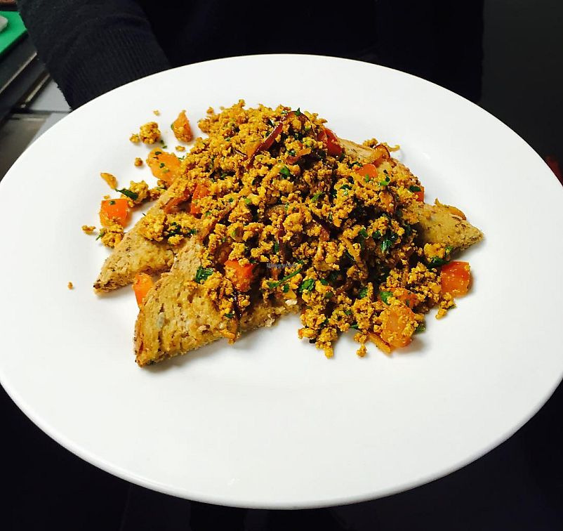 """Photo of Cavern Cafe  by <a href=""""/members/profile/AlexHall94"""">AlexHall94</a> <br/>Tofu scramble on toast <br/> October 6, 2017  - <a href='/contact/abuse/image/64779/312336'>Report</a>"""