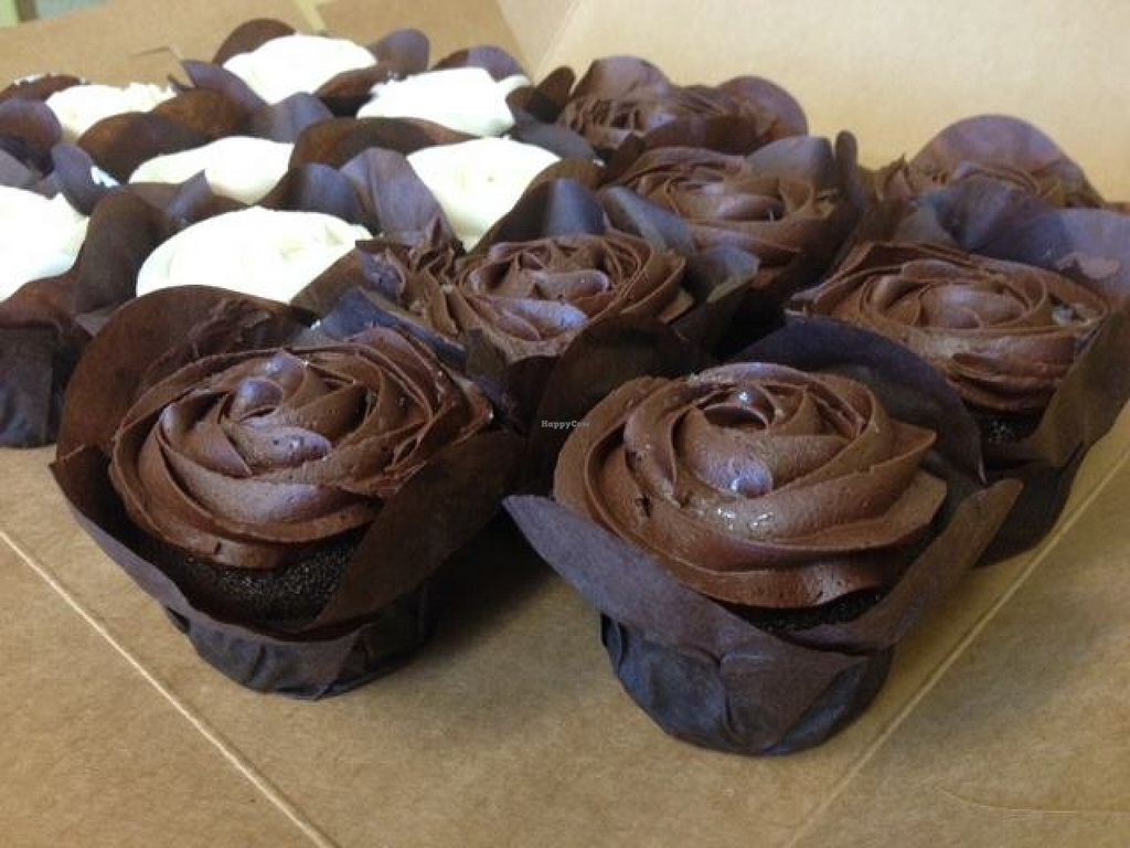 """Photo of CLOSED: Guilty Pleasure Baking Company  by <a href=""""/members/profile/clovely.vegan"""">clovely.vegan</a> <br/>Vegan chocolate cupcakes! <br/> October 24, 2015  - <a href='/contact/abuse/image/64788/122541'>Report</a>"""