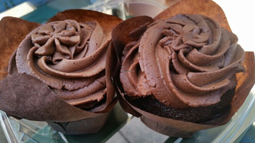 """Photo of CLOSED: Guilty Pleasure Baking Company  by <a href=""""/members/profile/EverydayTastiness"""">EverydayTastiness</a> <br/>vegan chocolate cupcakes <br/> January 16, 2016  - <a href='/contact/abuse/image/64788/132591'>Report</a>"""