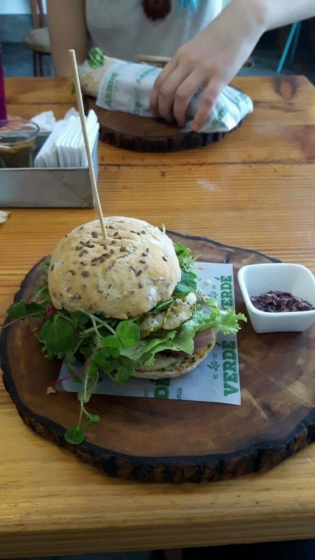 """Photo of La Verde  by <a href=""""/members/profile/dustydope"""">dustydope</a> <br/>burger and grilled veg wrap <br/> May 13, 2017  - <a href='/contact/abuse/image/64792/258487'>Report</a>"""