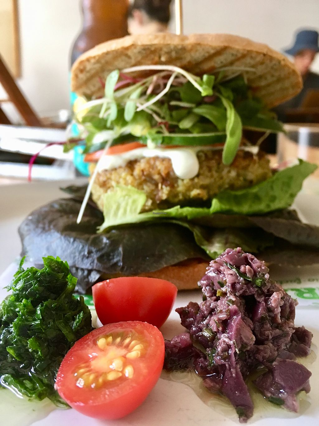 """Photo of La Verde  by <a href=""""/members/profile/milos99"""">milos99</a> <br/>La Verde sandwich with tapenade and chimichuri <br/> March 27, 2018  - <a href='/contact/abuse/image/64792/376872'>Report</a>"""