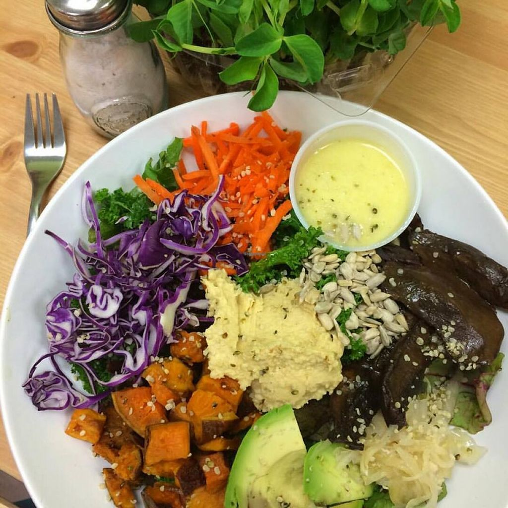"""Photo of Bliss Kitchen  by <a href=""""/members/profile/Bliss%20Kitchen"""">Bliss Kitchen</a> <br/>The Ananda Salad! Offered Daily  <br/> October 23, 2015  - <a href='/contact/abuse/image/64802/122304'>Report</a>"""