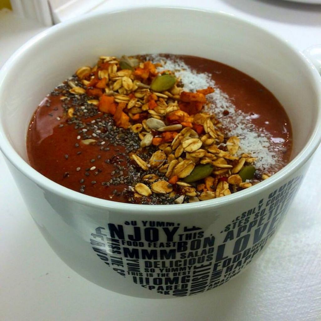 """Photo of Bliss Kitchen  by <a href=""""/members/profile/Bliss%20Kitchen"""">Bliss Kitchen</a> <br/>Smoothie Bowls! Come for breakfast from 7am-11am Monday to Friday  <br/> October 23, 2015  - <a href='/contact/abuse/image/64802/122307'>Report</a>"""