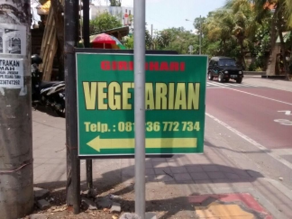 "Photo of Giri Dhari Vegetarian  by <a href=""/members/profile/vegnil"">vegnil</a> <br/>the sign from the street  <br/> November 17, 2015  - <a href='/contact/abuse/image/64804/125342'>Report</a>"