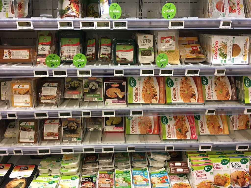 """Photo of Bio c' Bon - Reaumur  by <a href=""""/members/profile/Lauie"""">Lauie</a> <br/>Selection of vegan meats and cheeses! <br/> May 24, 2017  - <a href='/contact/abuse/image/64836/262044'>Report</a>"""