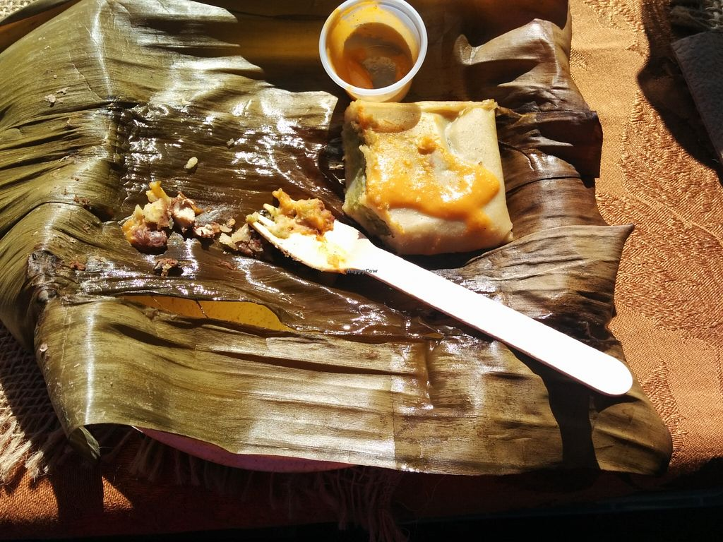 """Photo of CLOSED: Guudbelly  by <a href=""""/members/profile/MizzB"""">MizzB</a> <br/>Banana leaf wrapped tamale <br/> February 28, 2016  - <a href='/contact/abuse/image/64880/138158'>Report</a>"""