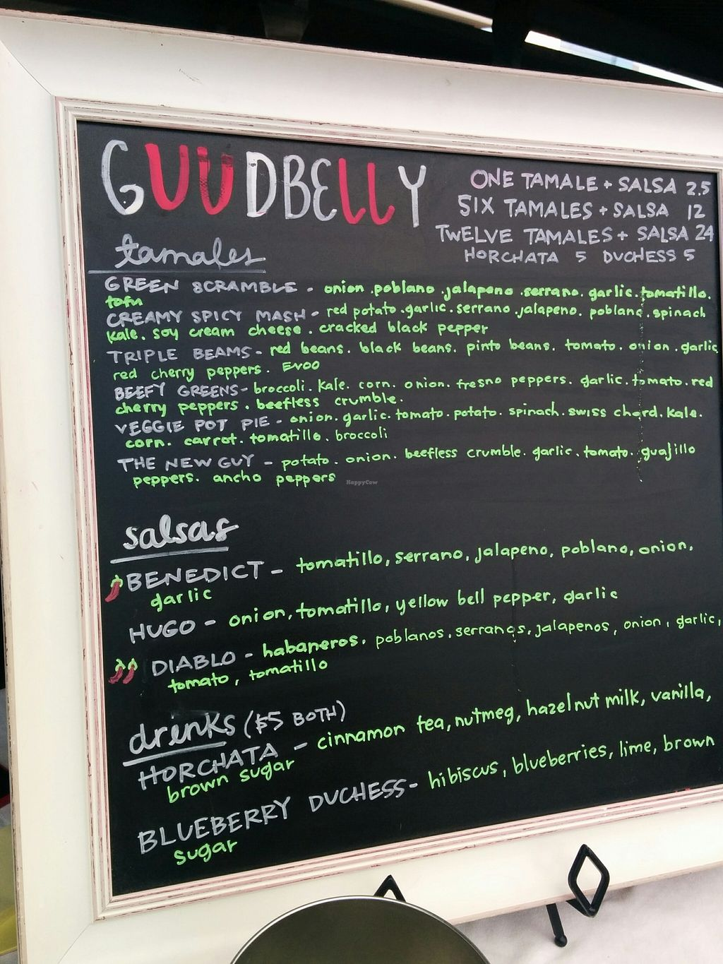 """Photo of CLOSED: Guudbelly  by <a href=""""/members/profile/MizzB"""">MizzB</a> <br/>Expanded menu, more vegan tamale goodness to enjoy! <br/> March 14, 2016  - <a href='/contact/abuse/image/64880/140002'>Report</a>"""