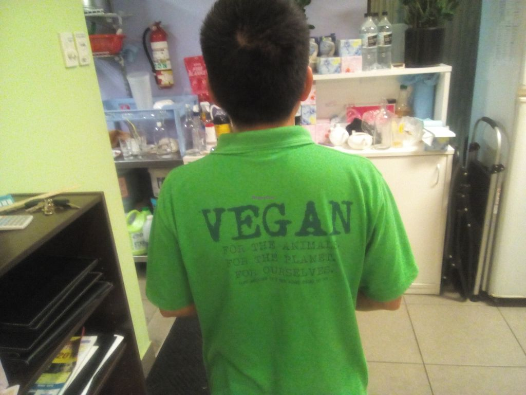 "Photo of Inala Vegan Restaurant  by <a href=""/members/profile/Rico"">Rico</a> <br/>The back of the owner's shirt <br/> April 24, 2016  - <a href='/contact/abuse/image/64882/146146'>Report</a>"