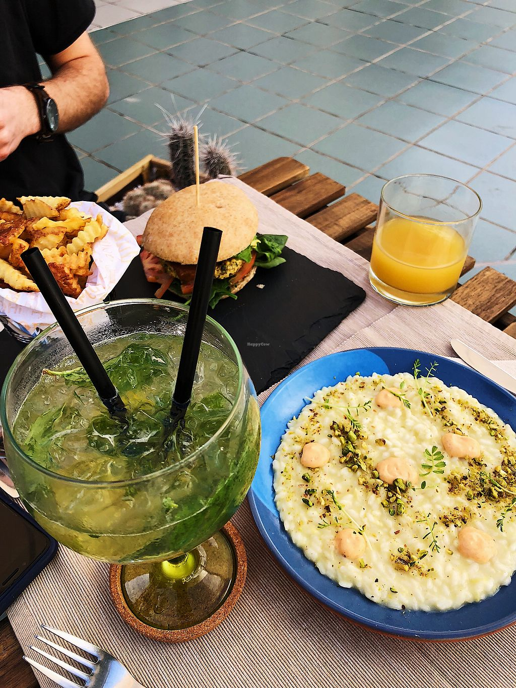 "Photo of Buenavida Vegan  by <a href=""/members/profile/SimonaCollins"">SimonaCollins</a> <br/>Risotto and burger  <br/> January 17, 2018  - <a href='/contact/abuse/image/64893/347770'>Report</a>"