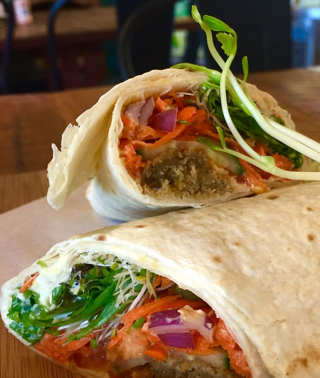 """Photo of The Dharma Hub  by <a href=""""/members/profile/karlaess"""">karlaess</a> <br/>Falafel wrap <br/> December 17, 2015  - <a href='/contact/abuse/image/64907/256966'>Report</a>"""