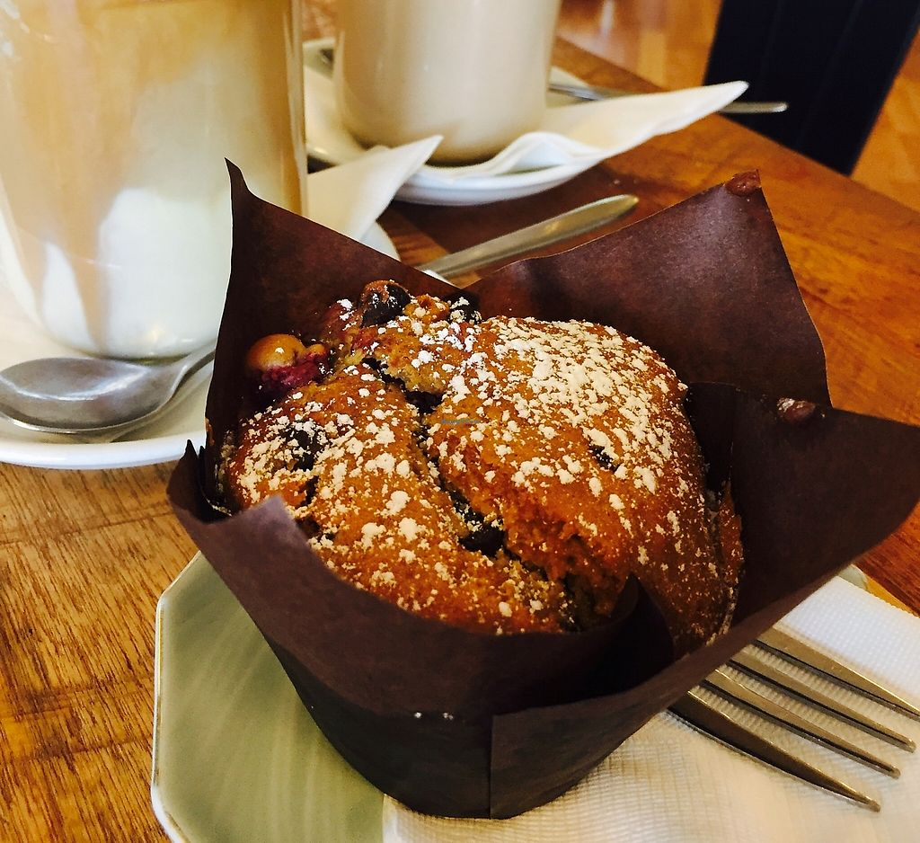 """Photo of The Dharma Hub  by <a href=""""/members/profile/karlaess"""">karlaess</a> <br/>Choc berry Vegan muffin <br/> December 18, 2015  - <a href='/contact/abuse/image/64907/256974'>Report</a>"""