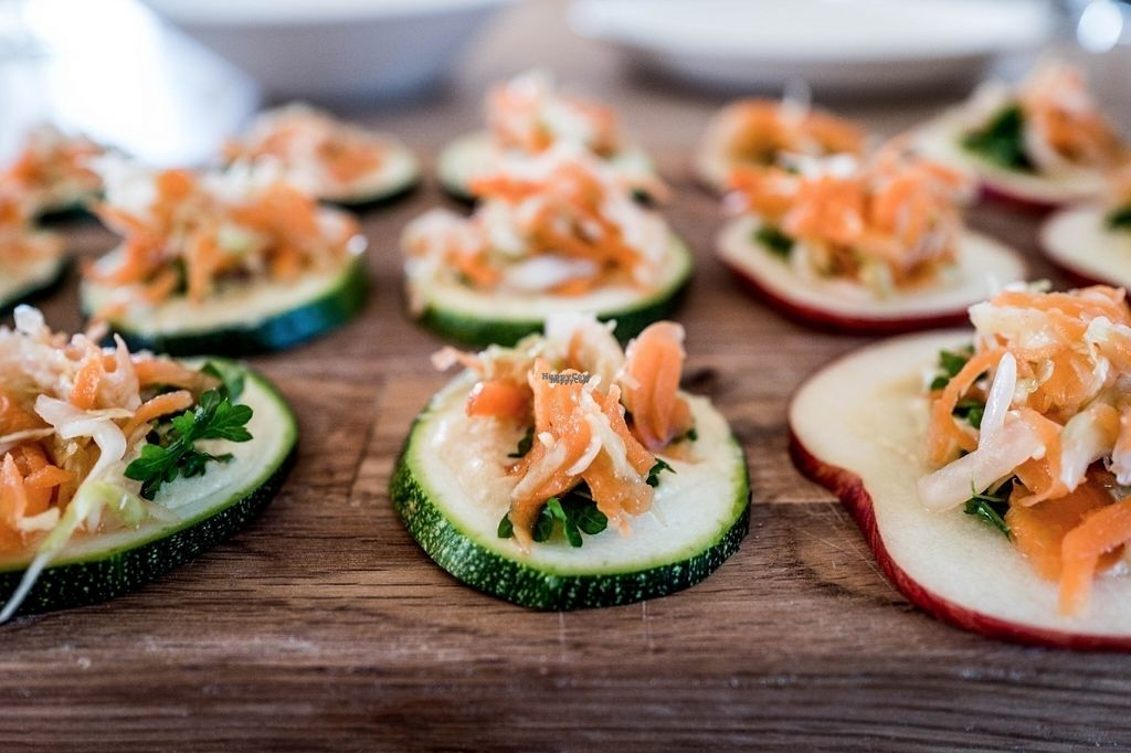 "Photo of Ficus - (com)passion food  by <a href=""/members/profile/Maddita"">Maddita</a> <br/>Fermented salad on zucchini and apple bites <br/> October 25, 2016  - <a href='/contact/abuse/image/64915/184419'>Report</a>"