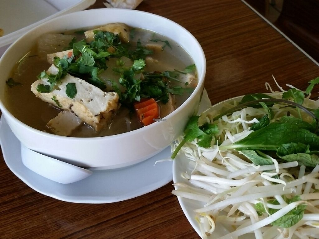 """Photo of Hand to Hand Vegetarian Food To Go  by <a href=""""/members/profile/eric"""">eric</a> <br/>pho soup <br/> January 22, 2017  - <a href='/contact/abuse/image/64916/214392'>Report</a>"""