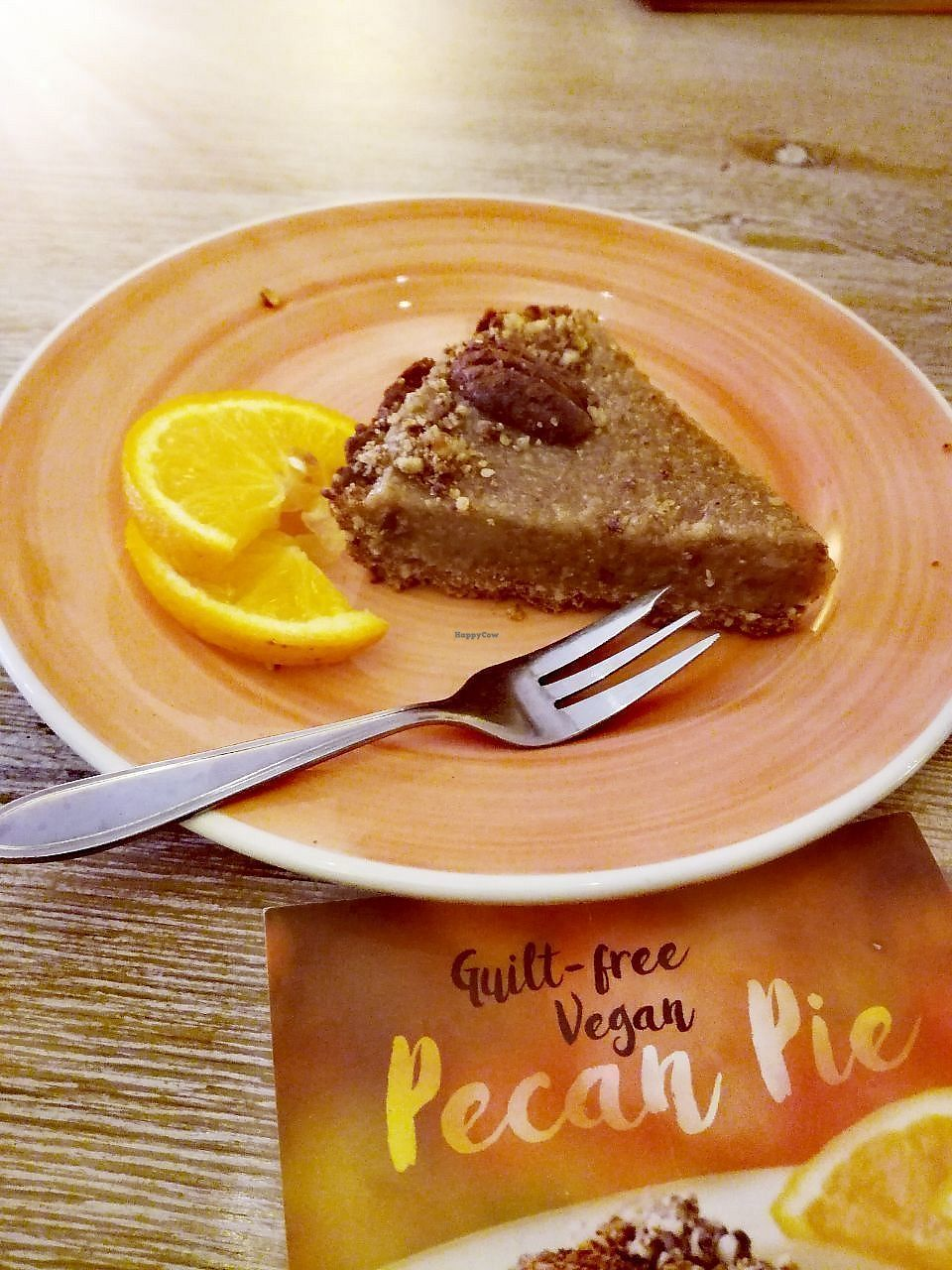 """Photo of Bagels & Beans  by <a href=""""/members/profile/happyowl"""">happyowl</a> <br/>Vegan pecan pie <br/> July 16, 2017  - <a href='/contact/abuse/image/64943/281147'>Report</a>"""