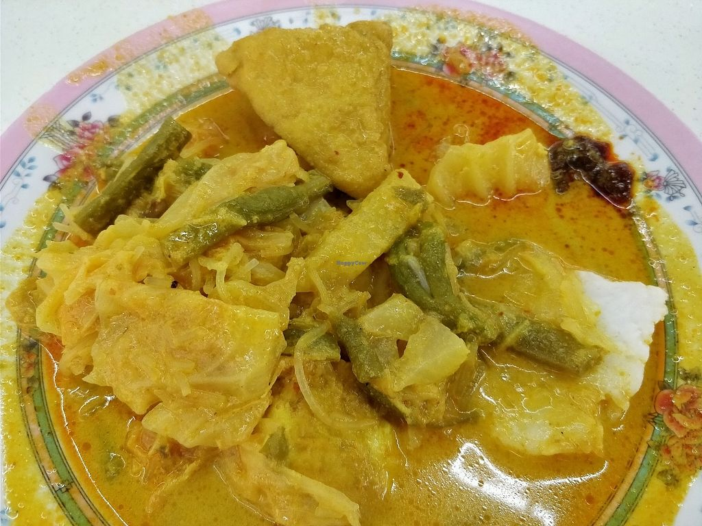 "Photo of Tanaka Vegetarian - Teck Whye   by <a href=""/members/profile/JimmySeah"">JimmySeah</a> <br/>Lontong - rice cakes with curry. ask for eggs to be omitted if you are vegan <br/> February 4, 2018  - <a href='/contact/abuse/image/64972/354668'>Report</a>"
