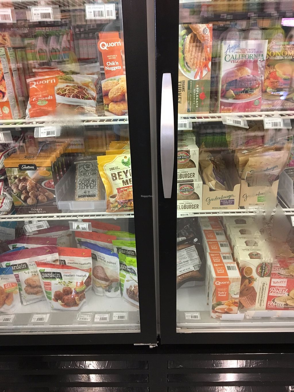 """Photo of Tiller and Rye  by <a href=""""/members/profile/sophiefrenchfry"""">sophiefrenchfry</a> <br/>Some of the veg options in the freezer section at Tiller and Rye <br/> November 15, 2017  - <a href='/contact/abuse/image/64978/325952'>Report</a>"""