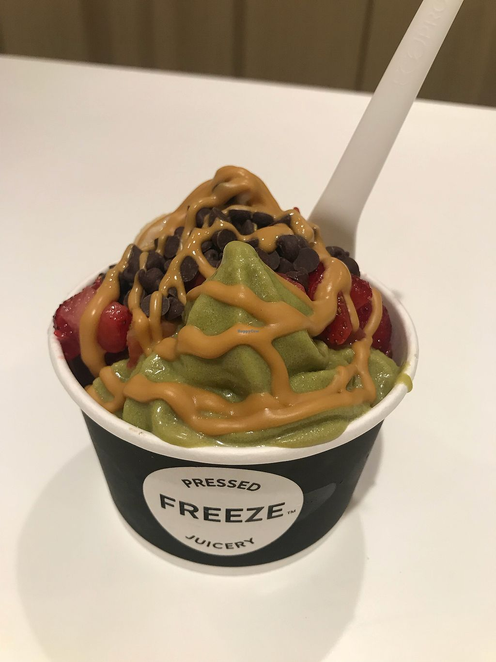 """Photo of Pressed Juicery  by <a href=""""/members/profile/GinaYablow"""">GinaYablow</a> <br/>Vegan freeze <br/> October 9, 2017  - <a href='/contact/abuse/image/64995/313711'>Report</a>"""
