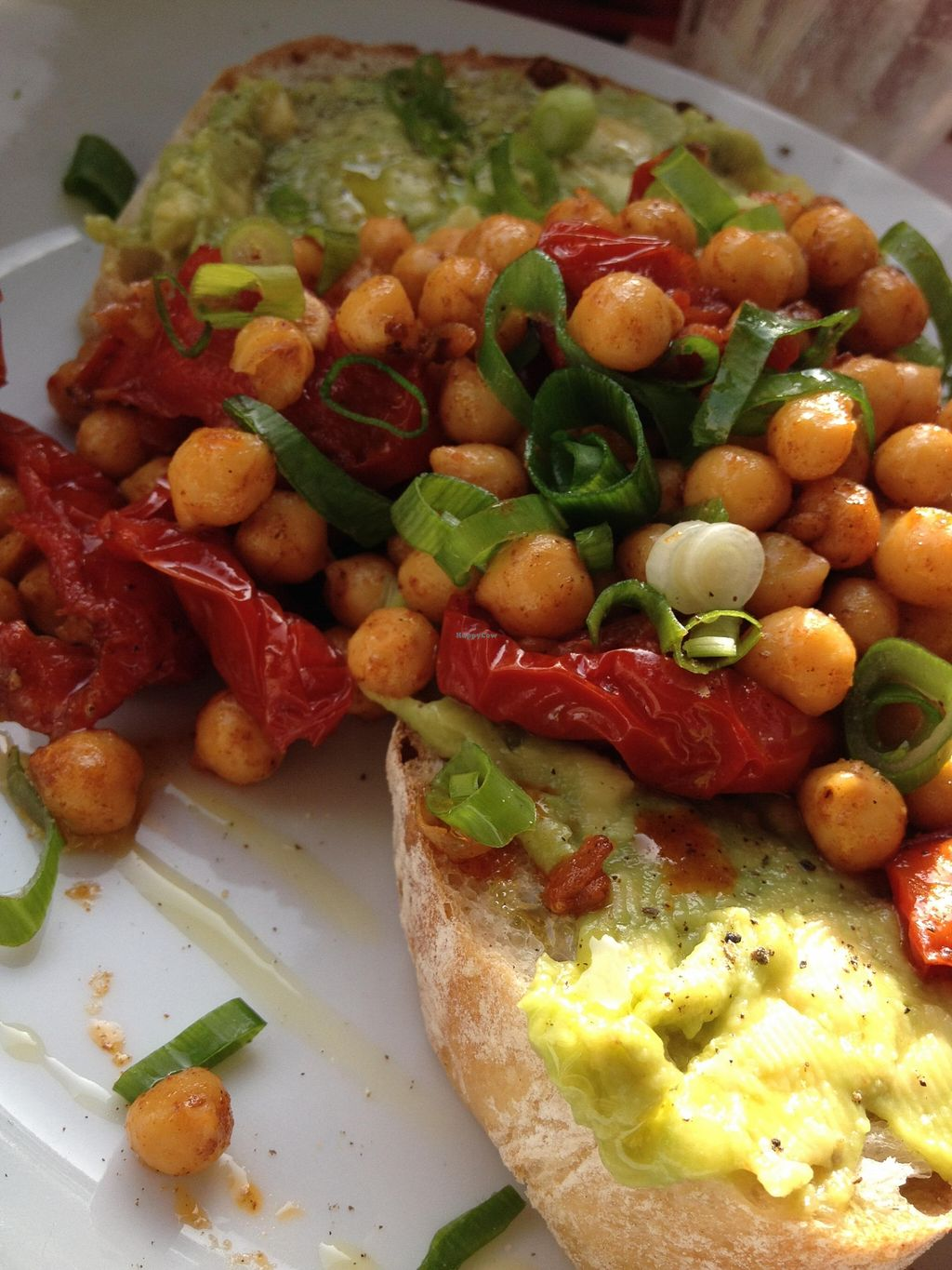 """Photo of Espresso Library  by <a href=""""/members/profile/chapstick"""">chapstick</a> <br/>Spiced chickpeas and avocado on sourdough toast <br/> October 28, 2015  - <a href='/contact/abuse/image/65013/122947'>Report</a>"""