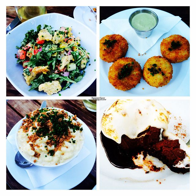 """Photo of Little Pine  by <a href=""""/members/profile/Vegeterin"""">Vegeterin</a> <br/>Panzanella salad, broccoli arancini, s'more with ganache, Mac & cheese  <br/> September 2, 2016  - <a href='/contact/abuse/image/65034/173090'>Report</a>"""
