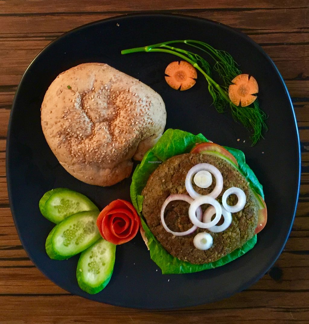 "Photo of Alice's Restaurant   by <a href=""/members/profile/Purrboat"">Purrboat</a> <br/>Vegan burger made with high quality vegan proteins <br/> October 28, 2015  - <a href='/contact/abuse/image/65038/123001'>Report</a>"