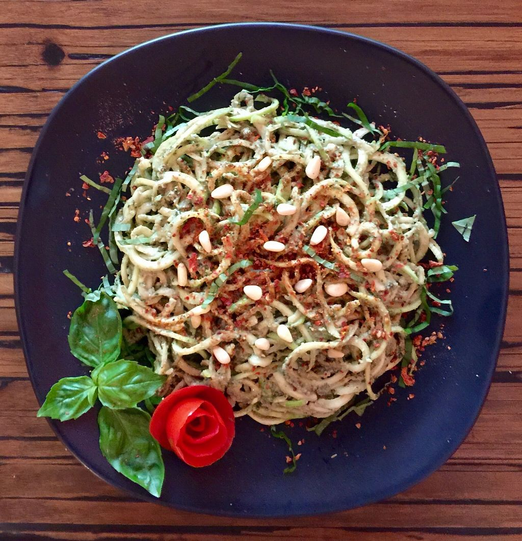"Photo of Alice's Restaurant   by <a href=""/members/profile/Purrboat"">Purrboat</a> <br/>Raw zucchini spaghetti with raw pesto <br/> October 28, 2015  - <a href='/contact/abuse/image/65038/123005'>Report</a>"