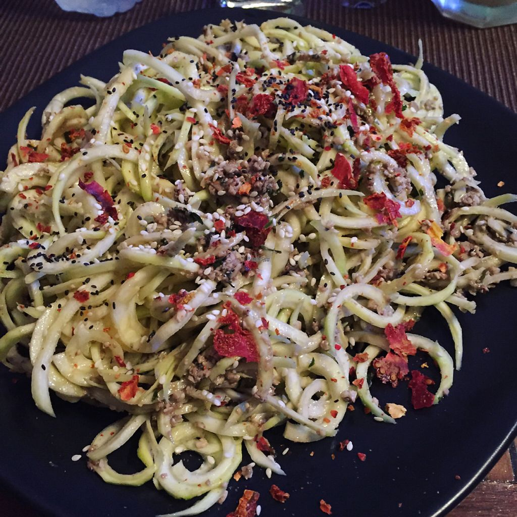 "Photo of Alice's Restaurant   by <a href=""/members/profile/SaraFitz"">SaraFitz</a> <br/>raw walnut pesto courgetti  <br/> November 13, 2016  - <a href='/contact/abuse/image/65038/189551'>Report</a>"