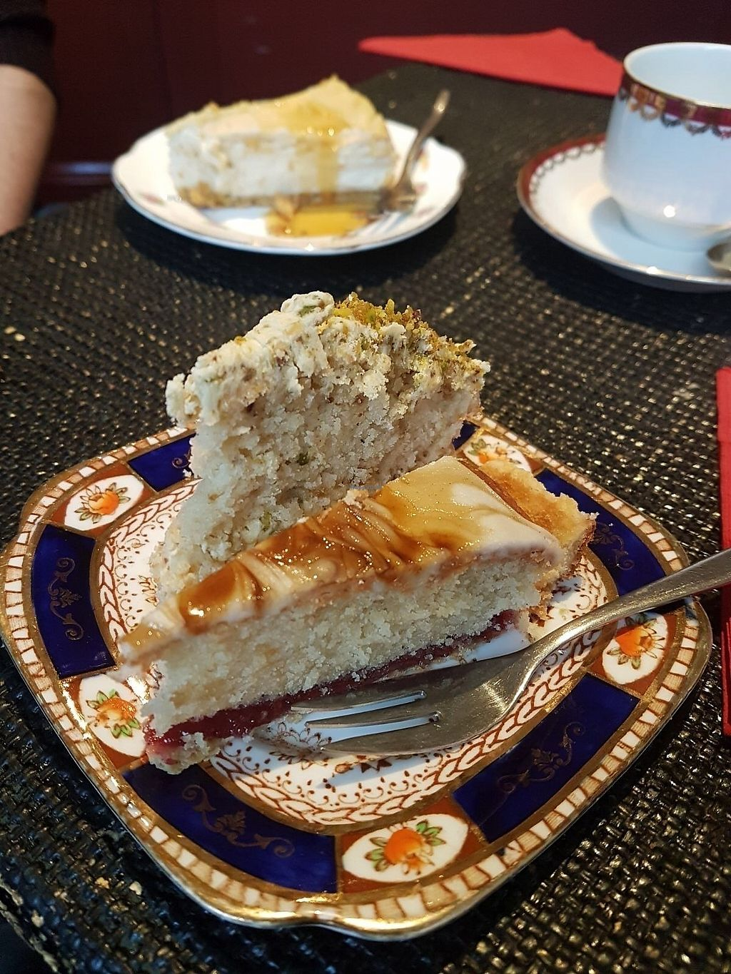 "Photo of The Kind Cake Co  by <a href=""/members/profile/katysarah"">katysarah</a> <br/>Pistachio praline & bakewell  <br/> October 21, 2017  - <a href='/contact/abuse/image/65059/317437'>Report</a>"