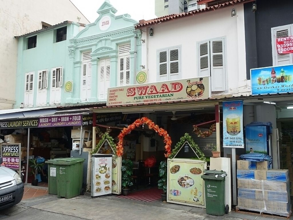 """Photo of Swaad - Desker Rd  by <a href=""""/members/profile/JimmySeah"""">JimmySeah</a> <br/>restaurant front view <br/> May 6, 2017  - <a href='/contact/abuse/image/65062/256249'>Report</a>"""