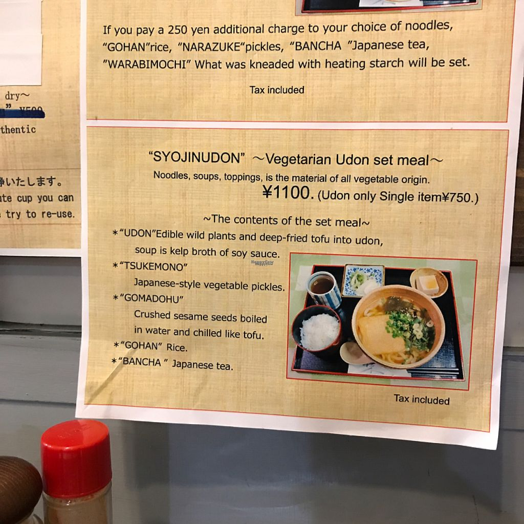 """Photo of Rokumeien  by <a href=""""/members/profile/TimWade"""">TimWade</a> <br/>the vegan set available. The owners were diligent in pointing out all items are plant based, even the stock.  <br/> April 7, 2017  - <a href='/contact/abuse/image/65065/245386'>Report</a>"""