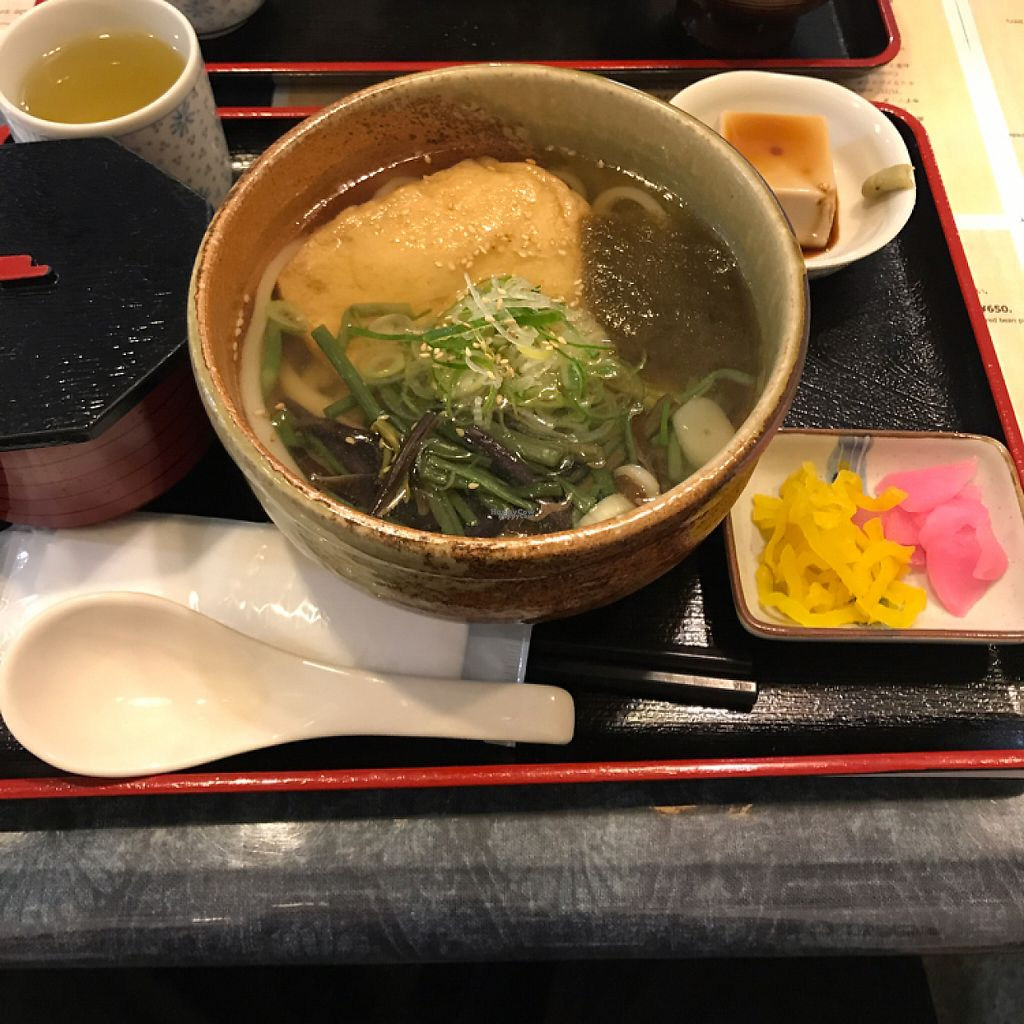 """Photo of Rokumeien  by <a href=""""/members/profile/TimWade"""">TimWade</a> <br/>vegan udon set  <br/> April 8, 2017  - <a href='/contact/abuse/image/65065/245702'>Report</a>"""