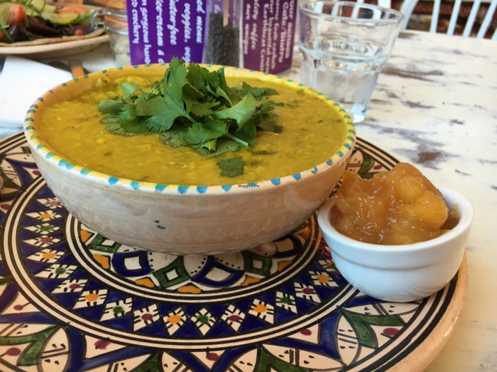"""Photo of Shanti Cafe  by <a href=""""/members/profile/hack_man"""">hack_man</a> <br/>lentil Dahl  <br/> June 25, 2016  - <a href='/contact/abuse/image/65076/156018'>Report</a>"""