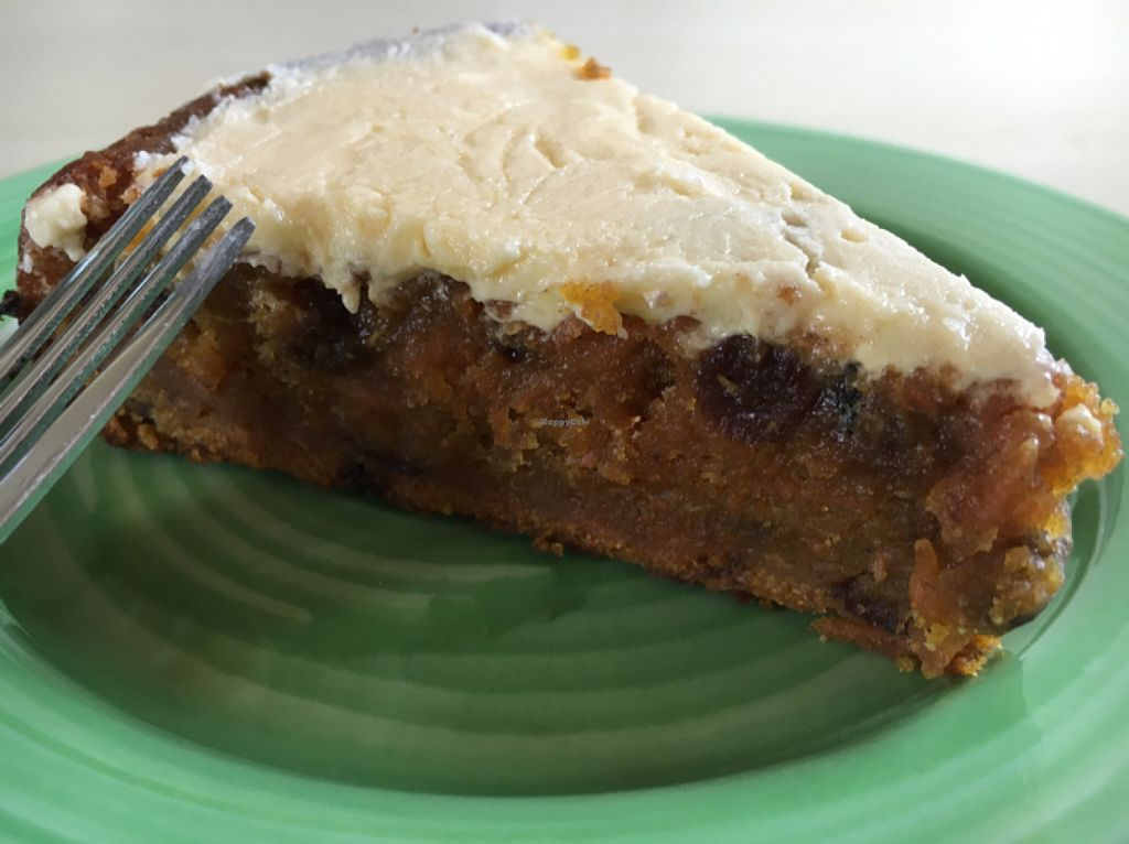 """Photo of Shanti Cafe  by <a href=""""/members/profile/hack_man"""">hack_man</a> <br/>Vegan carrot & orange cake  <br/> June 25, 2016  - <a href='/contact/abuse/image/65076/156069'>Report</a>"""