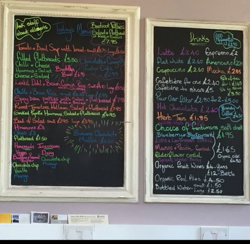 """Photo of Shanti Cafe  by <a href=""""/members/profile/DonnaC"""">DonnaC</a> <br/>menu <br/> June 25, 2016  - <a href='/contact/abuse/image/65076/156106'>Report</a>"""