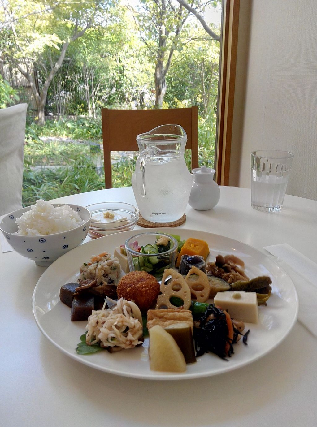"""Photo of Momi Cafe  by <a href=""""/members/profile/LaiNamKhim"""">LaiNamKhim</a> <br/>The Shyojin Ryori (temple vegetarian food) lunch set.  The cafe looks into a small garden and the ambiance is very nice <br/> October 28, 2015  - <a href='/contact/abuse/image/65086/122968'>Report</a>"""