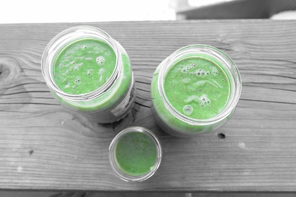 """Photo of CLOSED: Kulonjarat Raw & Vegan Bistro  by <a href=""""/members/profile/Norka"""">Norka</a> <br/>We love green smoothies <br/> November 18, 2015  - <a href='/contact/abuse/image/65096/125436'>Report</a>"""