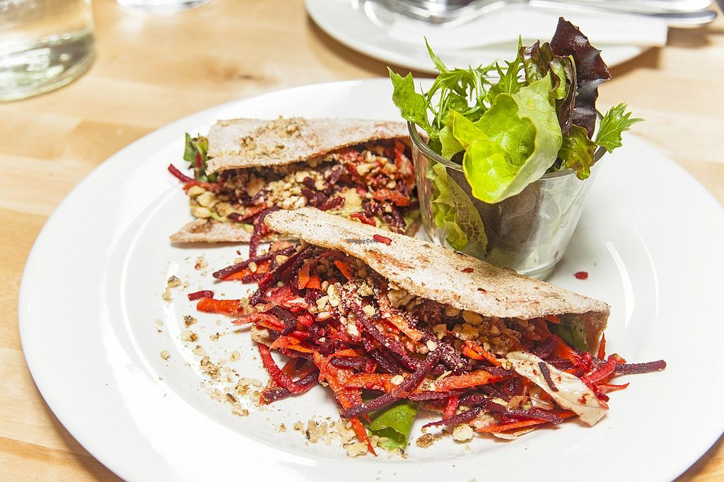 """Photo of CLOSED: Kulonjarat Raw & Vegan Bistro  by <a href=""""/members/profile/Norka"""">Norka</a> <br/>Spelt flat bread with walnut 'mayo' and marinated vegetables We love high raw diet. Our mission includes to introduce this to the locals <br/> November 18, 2015  - <a href='/contact/abuse/image/65096/125437'>Report</a>"""