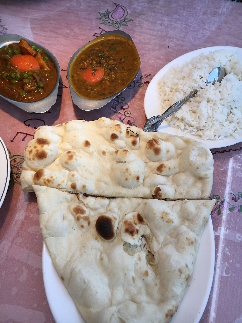 """Photo of Amrit Palace Indian Restaurant  by <a href=""""/members/profile/KWdaddio"""">KWdaddio</a> <br/>Aloo Matar Tamatar and Dal with (2) halves of Nan bread and white rice - Lunch Menu <br/> January 12, 2017  - <a href='/contact/abuse/image/6510/211544'>Report</a>"""
