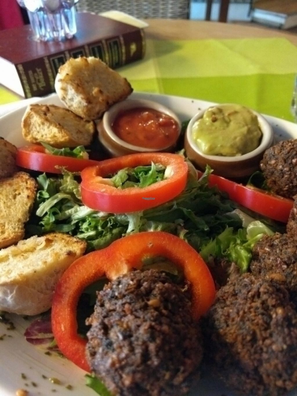 """Photo of CLOSED: Kafe Kafka  by <a href=""""/members/profile/L2Lulu"""">L2Lulu</a> <br/>vegan falafel salad... with guacamole and salsa <br/> August 16, 2016  - <a href='/contact/abuse/image/65142/169311'>Report</a>"""