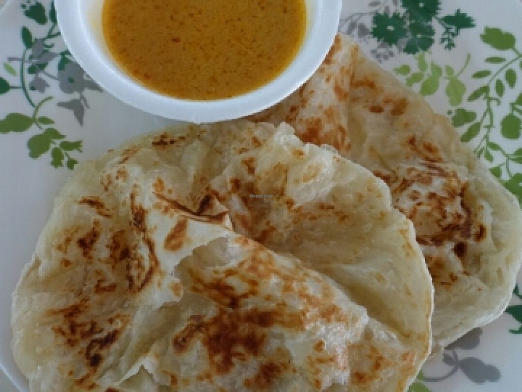 """Photo of Vegetarian Indian Cuisine  by <a href=""""/members/profile/JimmySeah"""">JimmySeah</a> <br/>2 pieces of Roti Prata  <br/> May 15, 2016  - <a href='/contact/abuse/image/65144/149055'>Report</a>"""