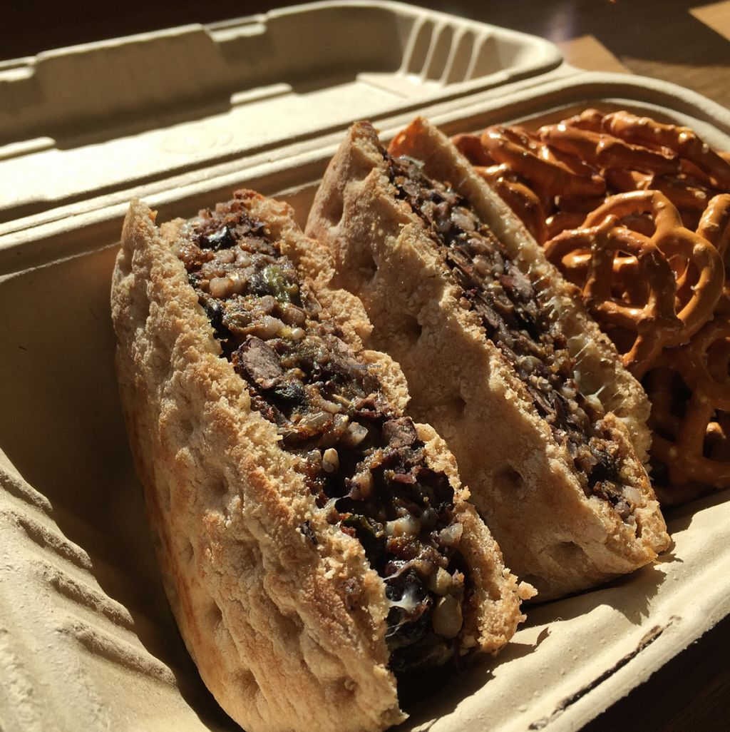 """Photo of Naked Lunch  by <a href=""""/members/profile/Sweestpea"""">Sweestpea</a> <br/>black bean burger <br/> January 14, 2016  - <a href='/contact/abuse/image/65179/132342'>Report</a>"""